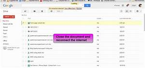 How to view and edit google drive documents offline internet for Google drive documents offline