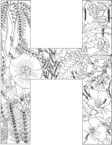 how to write a letter to the president letter h coloring page from alphabet with plants 20821