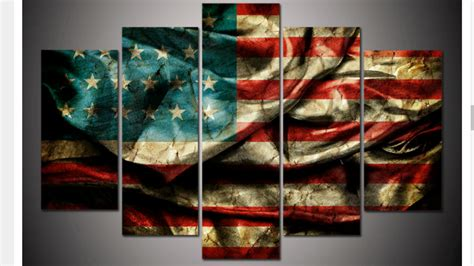 american flag canvas wall large framed american flag canvas print five wall 7434