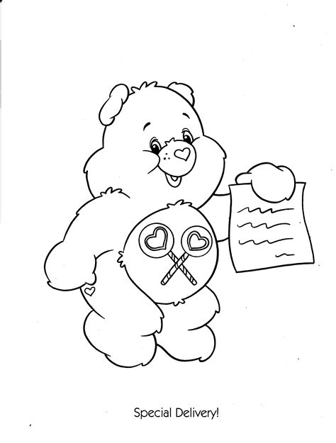 Coloring Song by Care Bears 147 Printable Coloring Pages