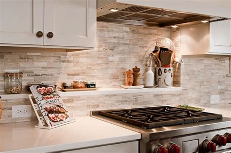 50 Kitchen Backsplash Ideas : Shelf Ideas, Stones And Travertine On Pinterest