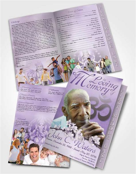 page graduated step fold funeral program template