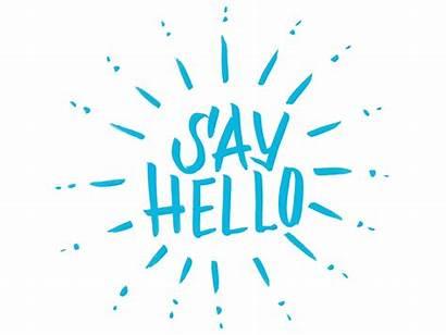 Hello Say Dribbble Sayhello Sunburst Lettering Illustration
