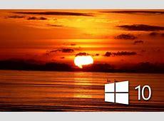 Windows 10 over the sunset simple white logo wallpaper