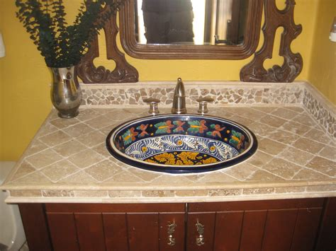 mexican hand painted sinks mexican talvera hand painted mexican sink with a tumbled
