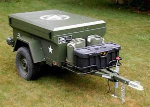 Man Builds Military Style Trailer