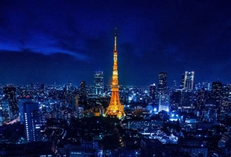 tokyo tower skyscrapers architecture background