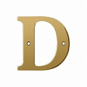 deltana 4 inch solid brass residential letter d With 4 inch brass letters