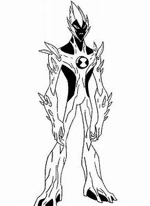 Swampfire From Ben 10 Alien Force Coloring Page