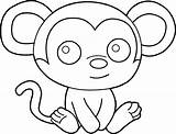 Coloring Pages Easy Monkeys Hard Activity sketch template