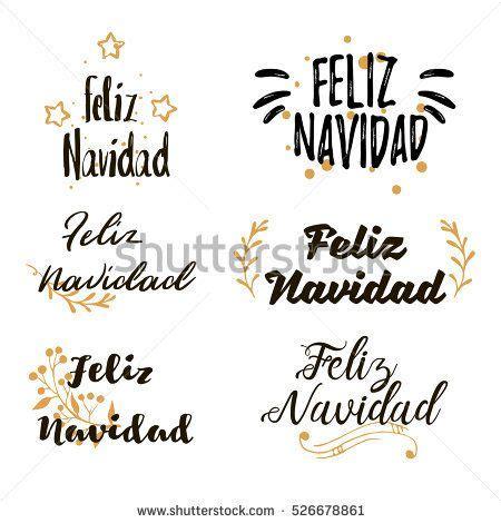 Spanish Merry Christmas Feliz Navidad Festive calligraphic