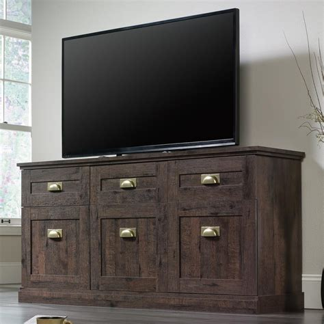 Entertainment Credenzas by Sauder New Grange 419142 Entertainment Credenza With Flip