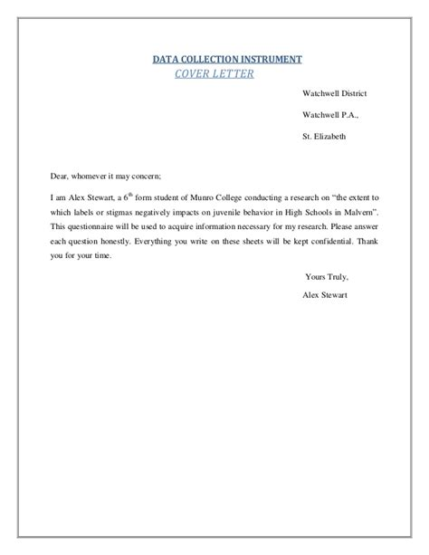 Survey Cover Letter by Questionnaire Cover Letter Reportd24 Web Fc2