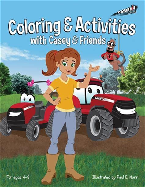 case ih casey  friends coloring  activities book