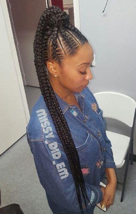 renewed goddess braids ponytail hairstyles