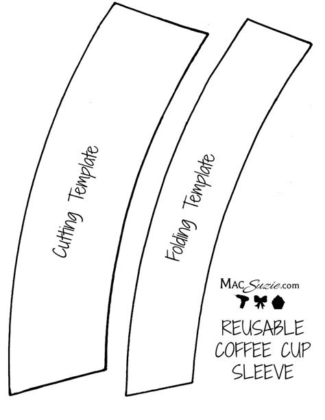 Template For Coffee Cup Sleeve by Diy Reusable Coffee Cup Sleeve Free Printable Template