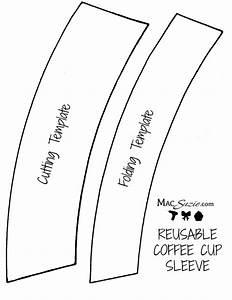 diy reusable coffee cup sleeve free printable template With template for coffee cup sleeve