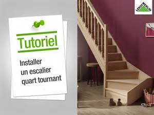 Dimension Escalier Quart Tournant Gauche by Comment Poser Un Escalier Quart Tournant Youtube