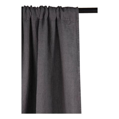 rideau 233 pais en canvas de lin gris fonc 233 linge particulier
