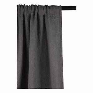 Rideau Lin Gris : rideau gris fonce ~ Teatrodelosmanantiales.com Idées de Décoration