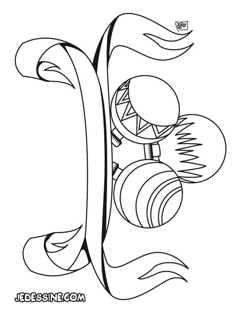coloriages coloriage de boules de d 233 coration de no 235 l fr