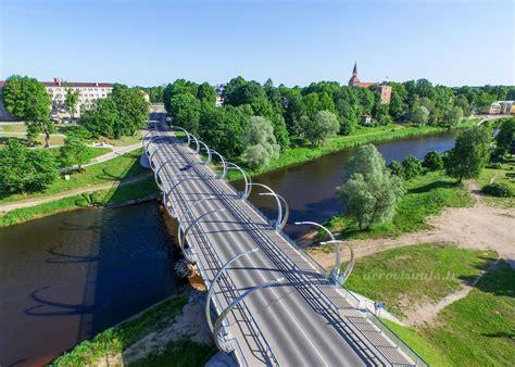 Valmieras Jaunais tilts aero foto