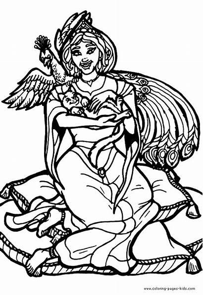 Coloring Queen Pages Fantasy Medieval Queens Princess
