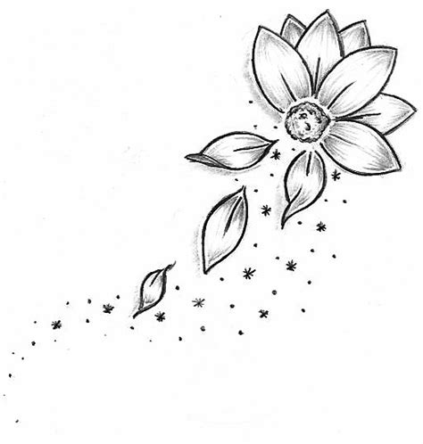 Chinese Flowers Drawings Easy