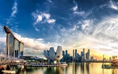 4k Singapore Panorama Bay Marina Sunset Wallpapers