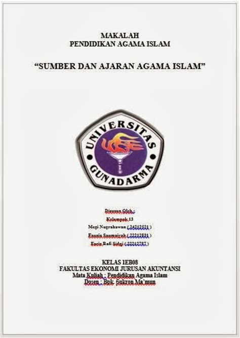 pin contoh cover page genuardis portal on