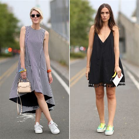 Top 5 dress with sneakers outfits