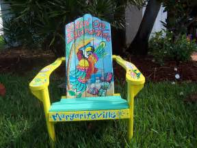 tropical adirondack chair handcrafted painted livin