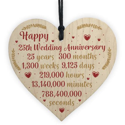 happy  wedding anniversary card gift heart twenty