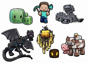 steve vs mobs minecraft coloring pages