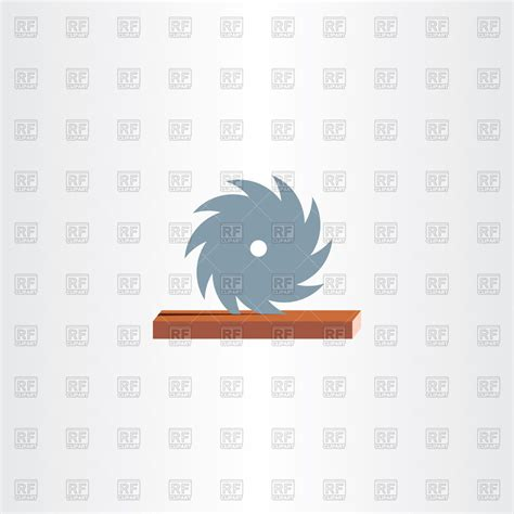 sawmill cutting wood icon vector image  signs symbols