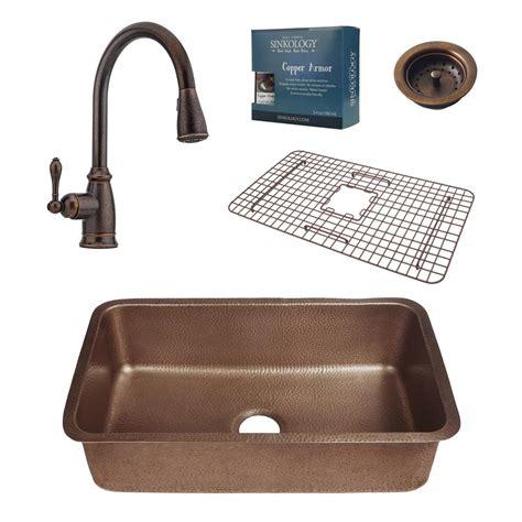 bronze kitchen sink faucets sinkology pfister all in one orwell 30 in undermount