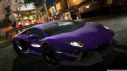 Gambar Mobil Kumpulan Keren Terbaru Purple Lamborghini