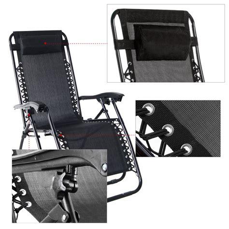 1 pair zero gravity anti gravity lounge chairs recliner