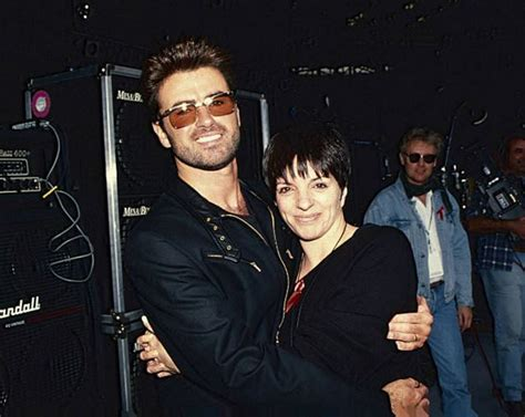 "With liza minnelli, ruth gottschall, ellen greene, jane krakowski. thegeorgemichaelblog: ""George and Liza Minnelli embrace ..."