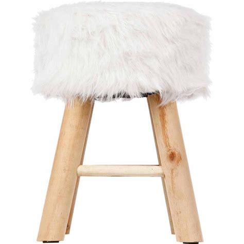 magasin de canapé tabouret imitation fourrure quot instants nature quot 42cm blanc