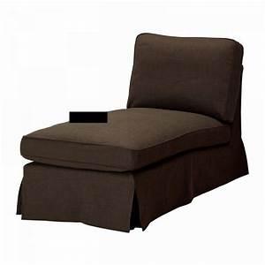 IKEA EKTORP Chaise Longue COVER Slipcover SVANBY BROWN