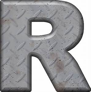 presentation alphabets diamond plate letter r With diamond plate letters