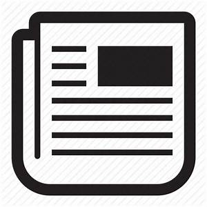 Headlines, news, newspaper, print, text icon | Icon search ...