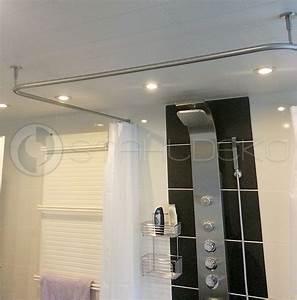 Duschvorhang U Form : duschvorhangstange u form barrierefrei f r badewannen oder dusche edelstahl oder wei ~ Sanjose-hotels-ca.com Haus und Dekorationen