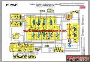 Hitachi Zaxis 200 225 230 Class Hydraulic Circuit Diagram