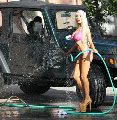 courtney stodden bikini car wash  gotceleb