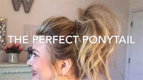 perfect ponytail tutorialkhloe kardashian inspired