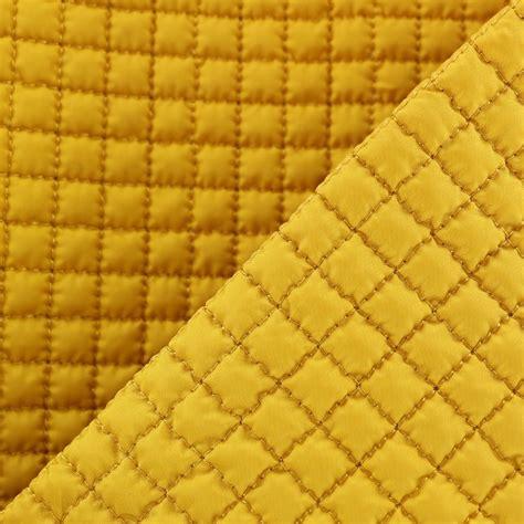 Tissu Doublure Matelassée Jaune Moutarde Pour Manteau Ou Veste