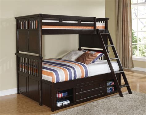 Canyon Ridge African Chestnut Youth Storage Bunk Bedroom