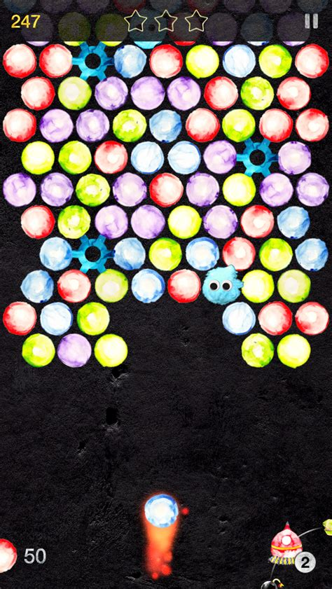 fuzzytopia bubble shooting adventure app  iphone